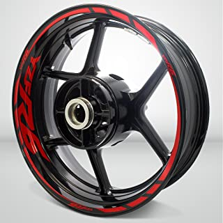 Gloss Red Motorcycle Rim Wheel Decal Accessory Sticker For Yamaha YZF R6