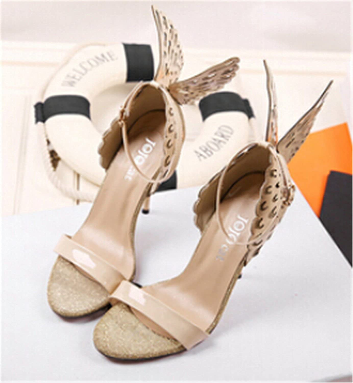 Robert Westbrook Butterfly Wings Women High Heels Bowtie Summer shoes Sandals Woman Pointed Toe Ankle Strap shoes Pumps