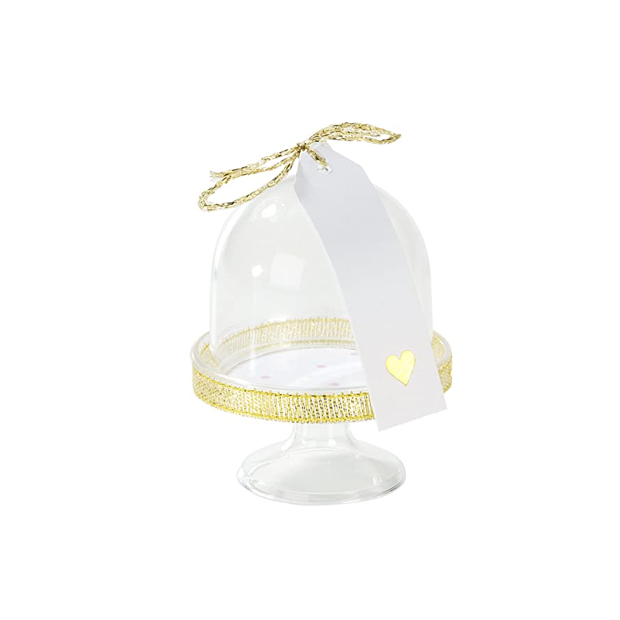 Talking Tables Pink And Gold Party Supplies | Pink Decorations | Party Favor Domes | Great For Baby Shower, Girls Party, 1st Birthday, Birthday Celebrations And Room Décor | 6 Pack