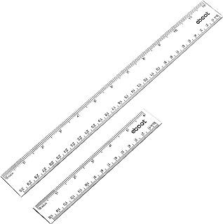 Starplast Regla Flexible Extensible Regla Adaptable etc Ni/ños Estudiantes Verde. 15cm a 30cm para Uso Escolar