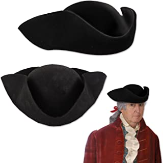 Felt Tricorn Hat (One Size Fits Most)