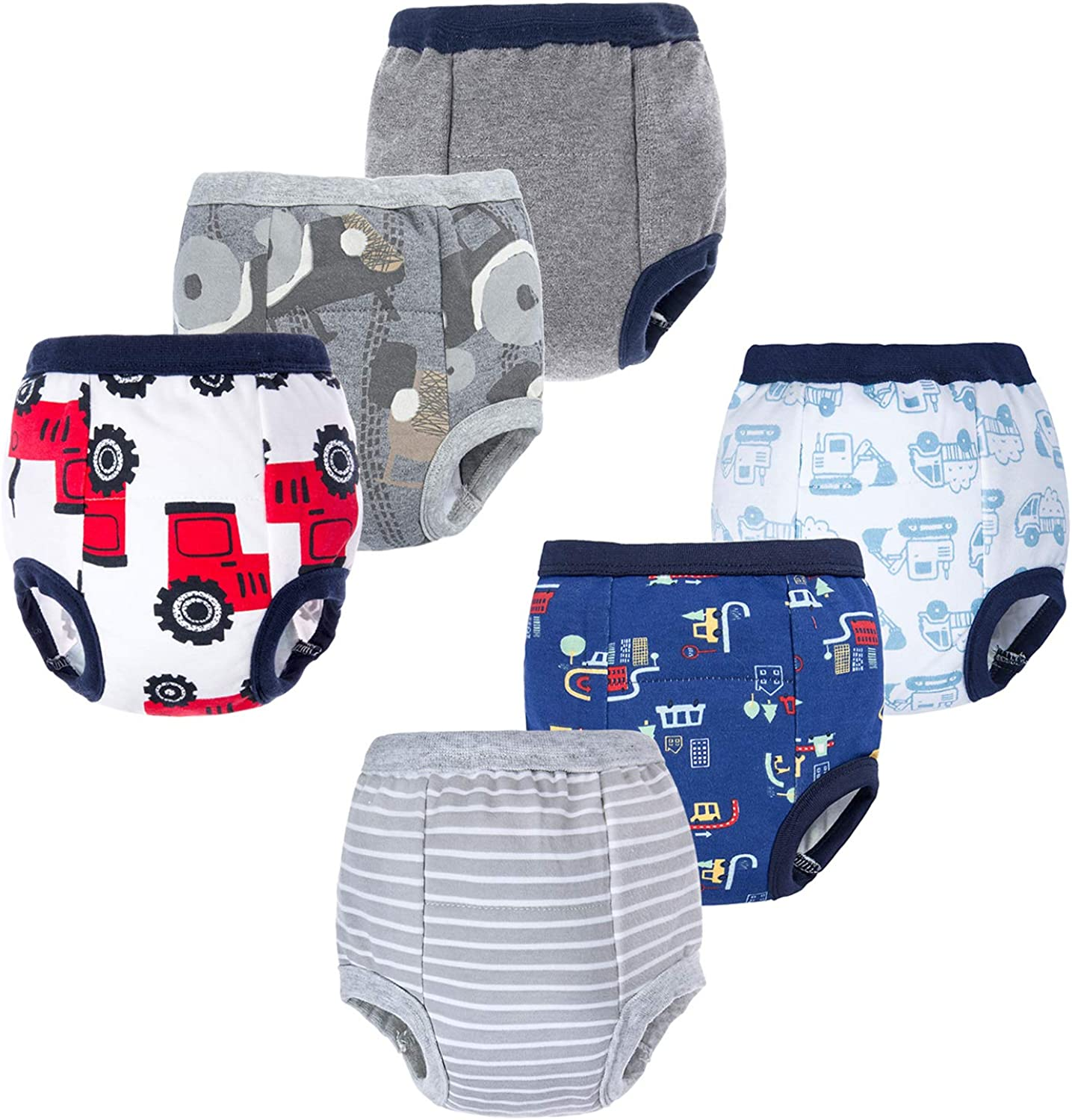 BIG ELEPHANT Baby Spring new work one after another Boys' 6 Pack Training Bombing new work Toddler Potty 100% Pants
