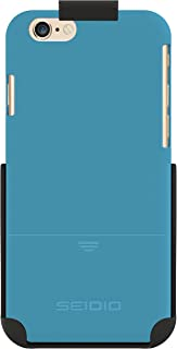 Seidio SURFACE 手机壳和皮带扣皮套仅适用于 iPhone 6 [超薄保护] - 零售包装 - 黑色BD2-HR3IPH6-EB 蓝色
