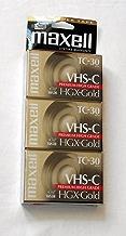 Maxell VHS-C TC-30 HGX-Gold Camcorder Videocassette (3pk)