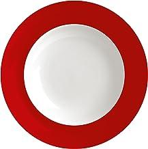 Waechtersbach Uno Soup Plates, Chili, Set of 4