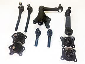 PartsW 10 Piece Kit Ball Joints, Tie Rods, and Front Pitman Arm 4WD Only