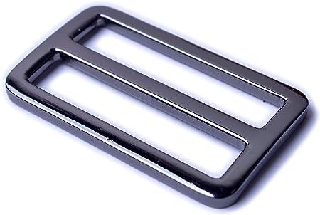 4pcs 1.25 1.5 inch Zinc Alloy FLAT Slide Buckle Adjuster
