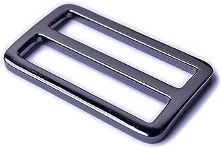 Bobeey 5pcs 1'' Black Gun Flat Metal Adjuster Sliders,Belt Sliders,Buckle Triglide For Strap Keeper Leathercraft Bag Belt Adjuster Sliders BBC9 (1 Inch, Black Gun)