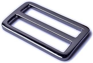 Bobeey 5pcs 1 1/2'' Black Gun Flat Metal Adjuster Sliders,Belt Sliders,Buckle Triglide For Strap Keeper Leathercraft Bag Belt Adjuster Sliders BBC9 (1 1/2 Inch, Black Gun)