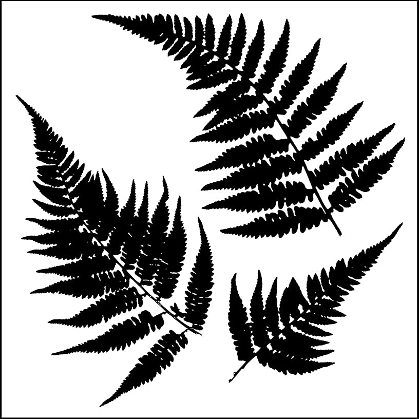 CRAFTERS WORKSHOP Crafters Workshop Framing Template, 6 by 6-Inch, Mini Ferns