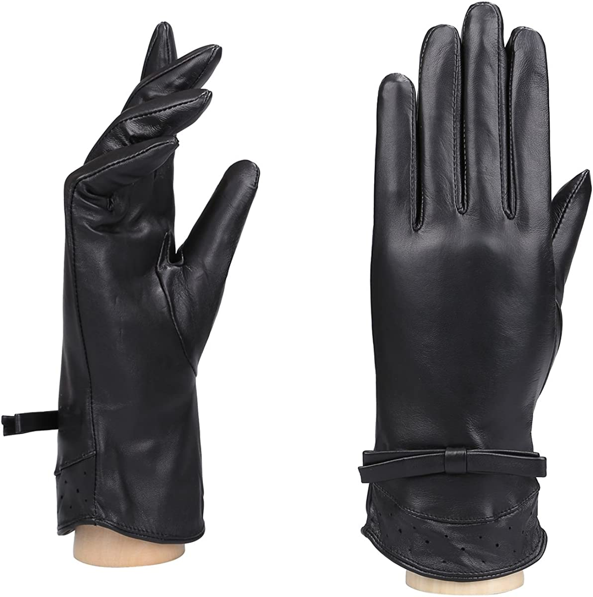 MoDA Women's Ms. Melbourne Genuine Leather Fully Lined Winter Gloves