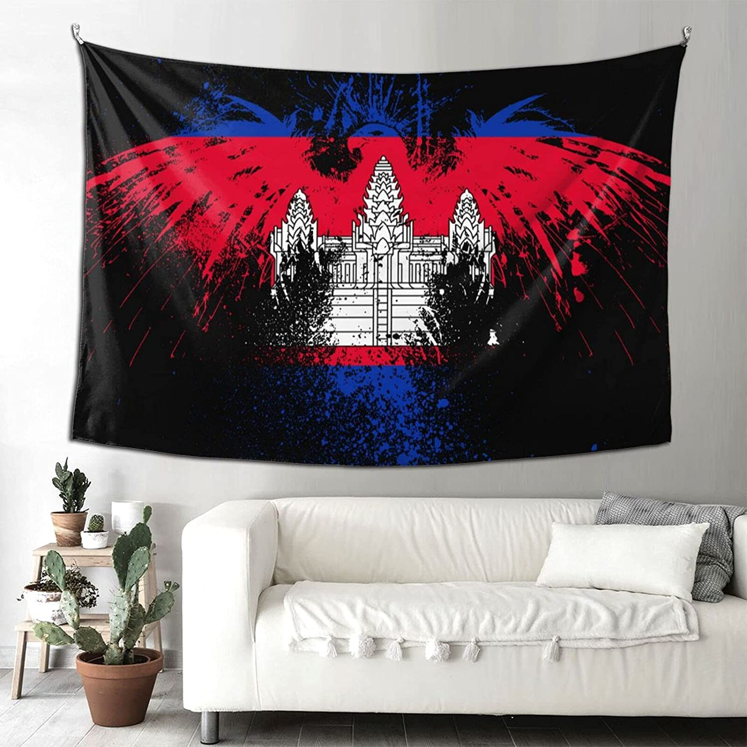 Eagle Flag Cambodia shopping Tapestry Beauty products 90x60 Printed Hom Hanging inch Wall
