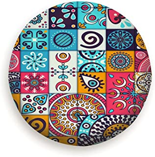 DIYAB Vintage Elements Handmexican Tire Cover Polyester Universal Spare Wheel Tire Cover Wheel Covers (14,15,16,17 Inch)