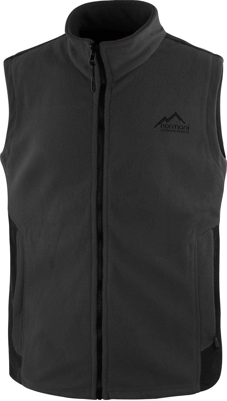 normani Outdoor Sports Herren Fleeceweste mit Rei/ßverschlusstaschen Bodywarmer