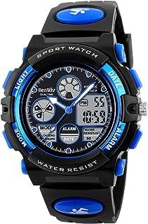 BesWLZ Kids Watches Boys Waterproof Digtial Sport Alarm Analog Quartz Wrist Watch with Alarm