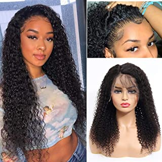 Dressmaker Curly Lace Front Wigs Human Hair with Pre Plucked Hairline Lace Front Wigs Jerry Curly Human Hair Wigs for Blac...