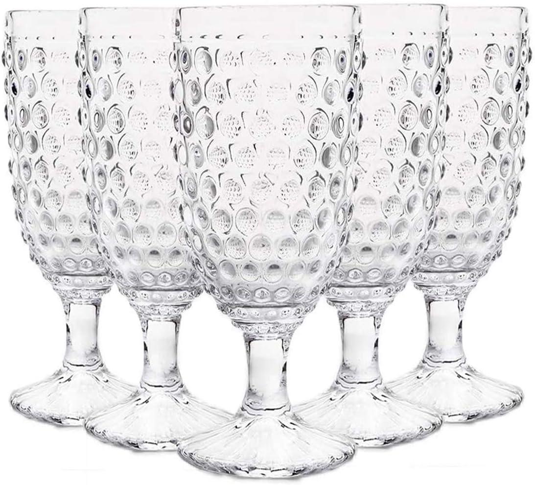 Max 58% OFF EVEREST GLOBAL Hobnail Beverage Glass Goblet 13 6 of for oz set outlet