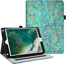 Fintie iPad 9.7 2018 2017 / iPad Air 2 / iPad Air Case - [Corner Protection] Multi-Angle Viewing Folio Stand Cover w/Pocket, Auto Wake/Sleep for Apple iPad 6th / 5th Gen, iPad Air 1/2, Shades of Blue