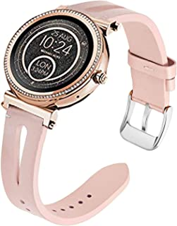 Compatible for Michael Kors Sofie Band, Blueshaw Slim Vintage Leather Strap Replacement for Women, Man, Wristband Accessories for MK Access Sofie/MK Access Runway Smartwatch