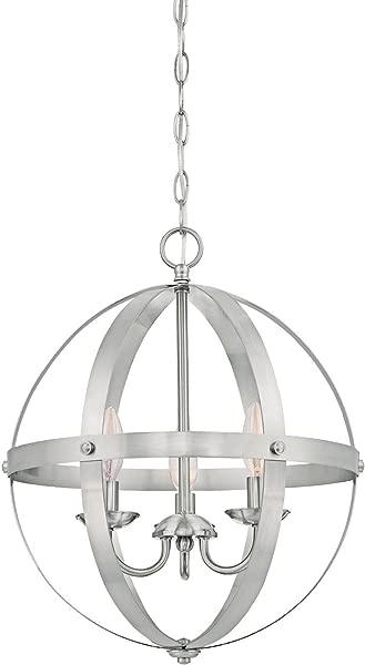 Westinghouse Lighting 6341900 Stella Mira Indoor Chandelier Three Light Pendant Brushed Nickel