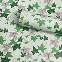 Yifely Ivy Leaf Drawer Paper Self-Adhesive Shelf Liner Makeup Case Jewelry Box Cabinet Decor 17.7 Inch by 9.8 Feet