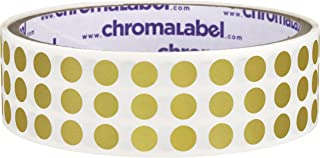 ChromaLabel 1/4 inch Color-Code Dot Labels | 1,000/Roll (Metallic Gold)