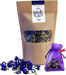 Thai Delicious Butterfly Pea Organic Dried Blue Flower Tea 1.60 Oz.(50g.) (1)