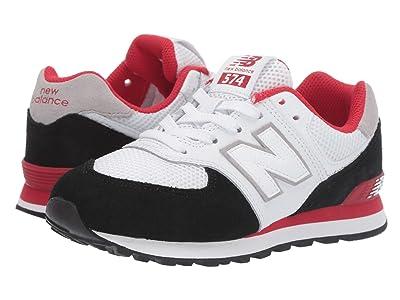 New Balance Kids 574 Summer Sport (Little Kid) (Black/Team Red) Boys Shoes