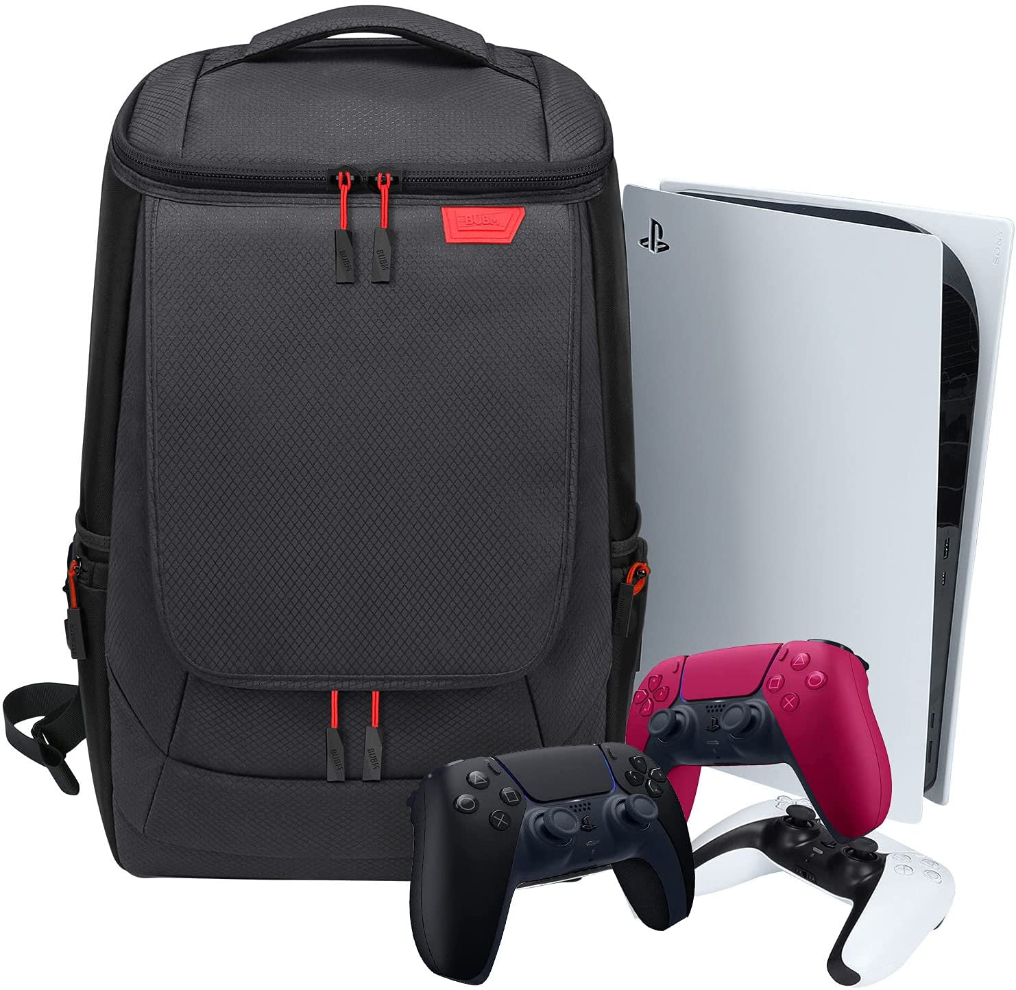 BUBM Console Backpack with Challenge the lowest price PS5 Large Carrying Travel trust Capacity C