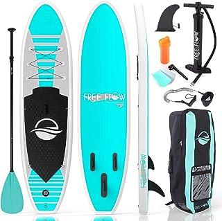 تخته پد قابل حمل بادی SereneLife (6 اینچ ضخیم) با لوازم جانبی Premium SUP & حمل کیف | گسترده ای از موضع ، پایین باله برای جیب ، کنترل گشت و گذار ، دکوراسیون بدون لغزش | قایق ایستاده جوانان و بزرگسالان