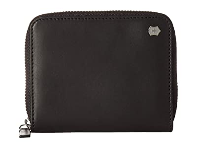 Victorinox Altius Edge Weyl Zippered Clutch Wallet w/ RFID Protection (Black Leather) Bi-fold Wallet