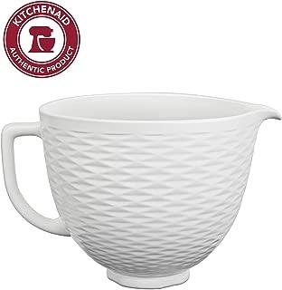 KitchenAid KSM2CB5TLW Accs Portable Appliance Bowl, 5 quart, White Chocolate Textured Ceramic