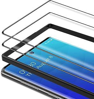 Bewahly skärmskydd för Samsung Galaxy Note 10 [2 pack], 3D böjd kant härdat glas film full täckning, svart