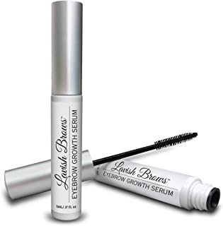 Pronexa Hairgenics Lavish Brows � Eyebrow Growth Enhancer Serum with Biotin, Castor Oil & Natural Growth Peptides for Long, Thick Looking Eyebrows! Dermatologist Certified & Hypoallergenic.