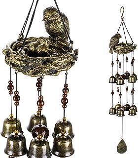 OwnMy Wind Chimes with Bird، زينة أجراس معدنية للحديقة الخارجية وديكور المنزل