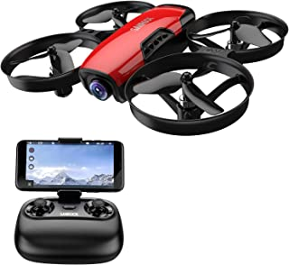 Drone for Kids with Camera, SANROCK U61W FPV Wi-Fi Drone with Camera 720P HD, Intelligent Operation Altitude Hold and Headless Mode, One Button Take Off/Landing, Emergency Stop