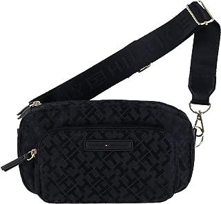 Jacquard Crossbody Waist Pack (Black)