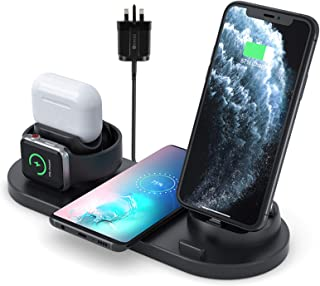Innoo Tech Wireless Charger, 6 in 1 Wireless Fast Charging Stand for Apple Watch/AirPods/iPhone 12/11/11pro/11pro Max/X/XR...