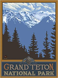 Grand Teton National Park Travel Art Print Poster by Paul A. Lanquist (18