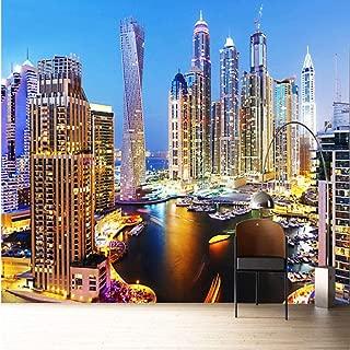 YYNIGHT 3D Wallpaper Beautiful Dubai Night Landscape Mural Living Room TV Sofa Office Backdrop Wall Fresco Latest Decor -275x200cm