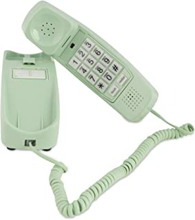 Trimline Corded Phone - Phones for Seniors - Phone for Hearing impaired - Earth Day Green - Retro Novelty Telephone - an Improved Version of The Princess Phones in 1965 - Style Big Button
