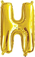 "The golden store 16"" Alphabet Letter Shape Golden foil Balloon (H Letter) for Birthday Party Decorations"