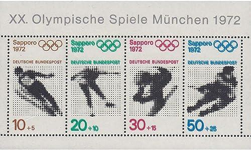 Goldhahn BRD Bund Block 6 postfrisch  Dreifachdruck geprüft und signiert Briefmarken für Sammler