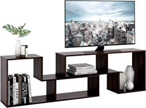 """DEVAISE TV Stand, Modern and Versatile Entertainment Center Media Stand, Used as a Bookcase, TV Console/Storage Shelf for Your Living Room, 0.59"""" Thick, Oak Color"""
