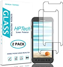 HPTech Galaxy S7 Active Screen Protector - (2-Pack) Tempered Glass Film for Samsung Galaxy S7 Active Screen Protector Easy to Install, Bubble Free with Lifetime Replacement Warranty