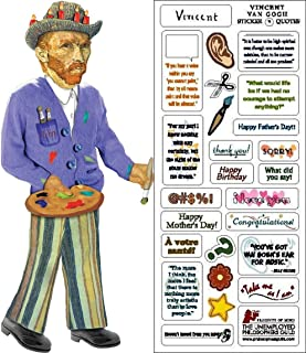 Vincent Van Gogh Quotable Notable - Die Cut Silhouette Greeting Card and Sticker Sheet