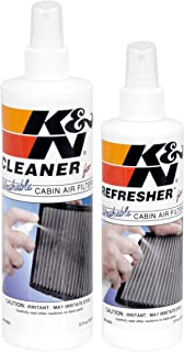 K&N Cabin Air Filter Cleaning Kit: Spray Bottle Filter Cleaner and Refresher Kit; Restores Cabin Air Filter Performance; S...