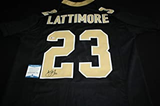 Marshon Lattimore Autographed Signed Jersey New Orleans Saints Ohio State Signature - Beckett Authentic