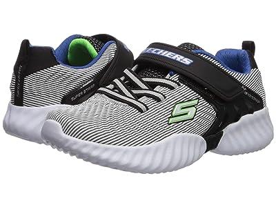 SKECHERS KIDS Gore Strap Sneaker 98330L (Little Kid/Big Kid) (Gray/Black) Boy