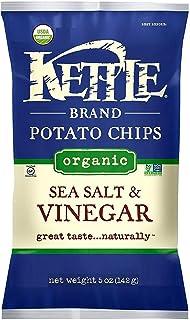 Kettle Brand, Organic Kettle Chips; Sea Salt & Vinegar, Pack of 15, Size - 5 OZ, Quantity - 1 Case